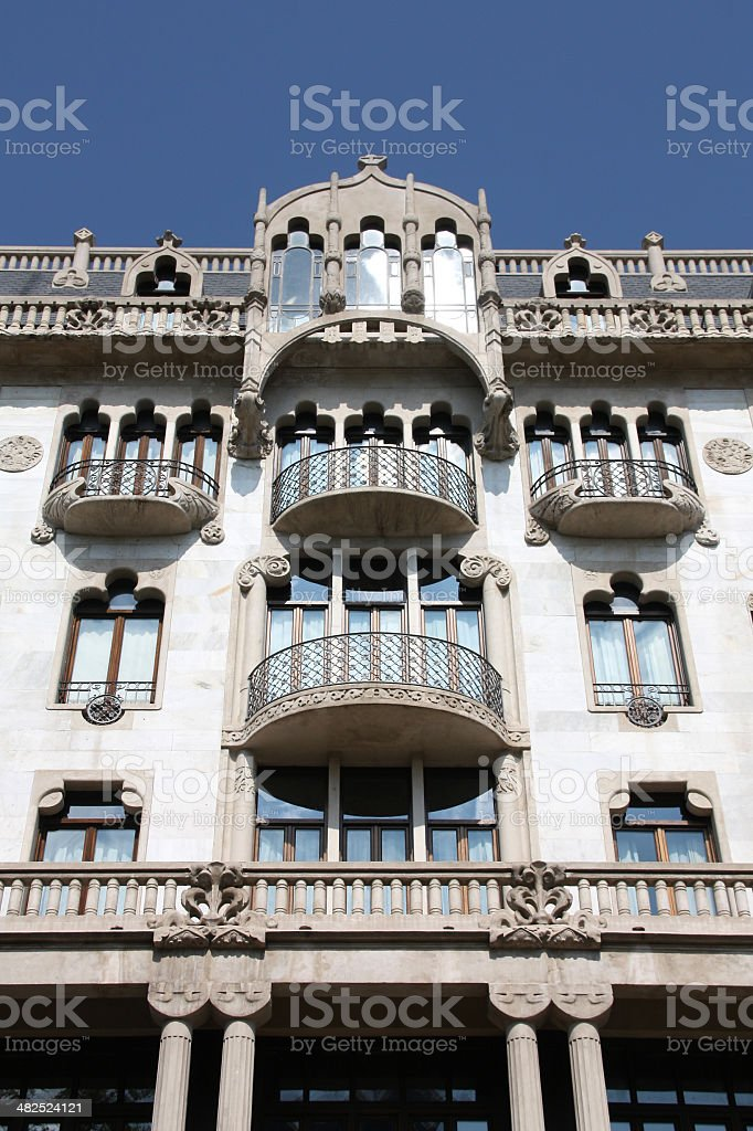 Art nouveau in Barcelona stock photo