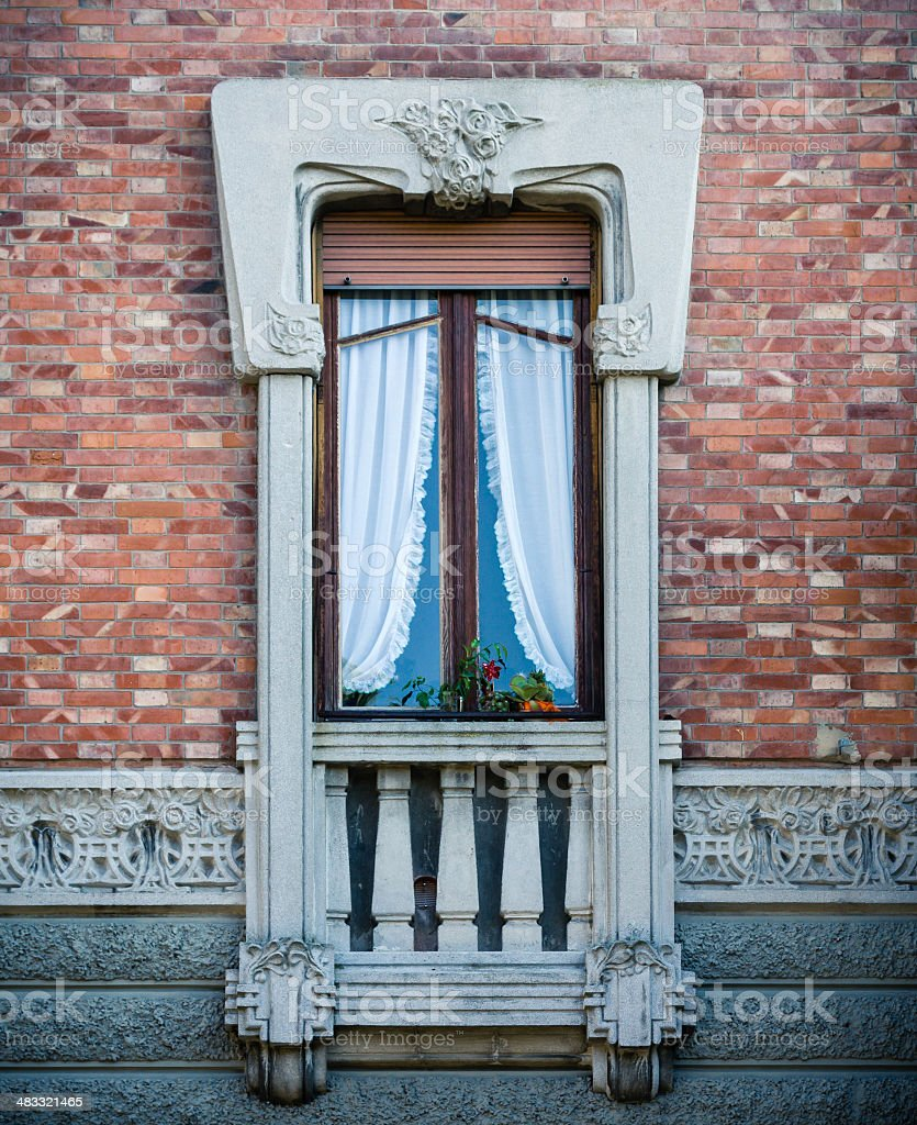 Art Nouveau in Lucca, Tuscany royalty-free stock photo