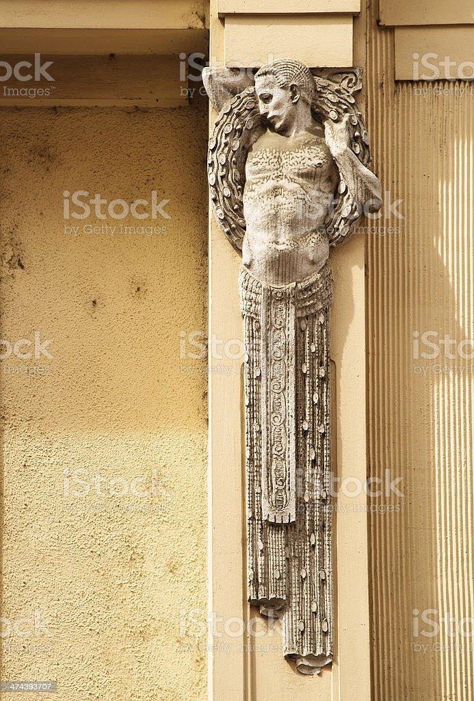 Art Nouveau in Prague, Czech Republic royalty-free stock photo