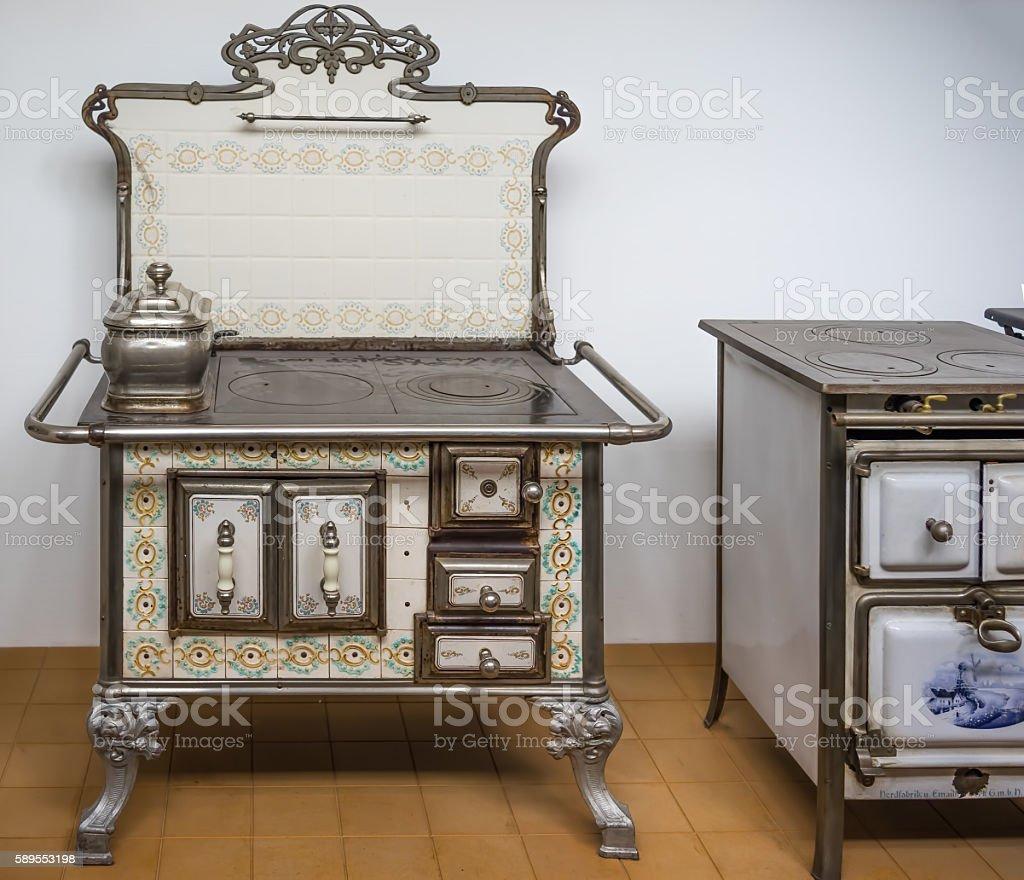 Art Nouveau oven stock photo
