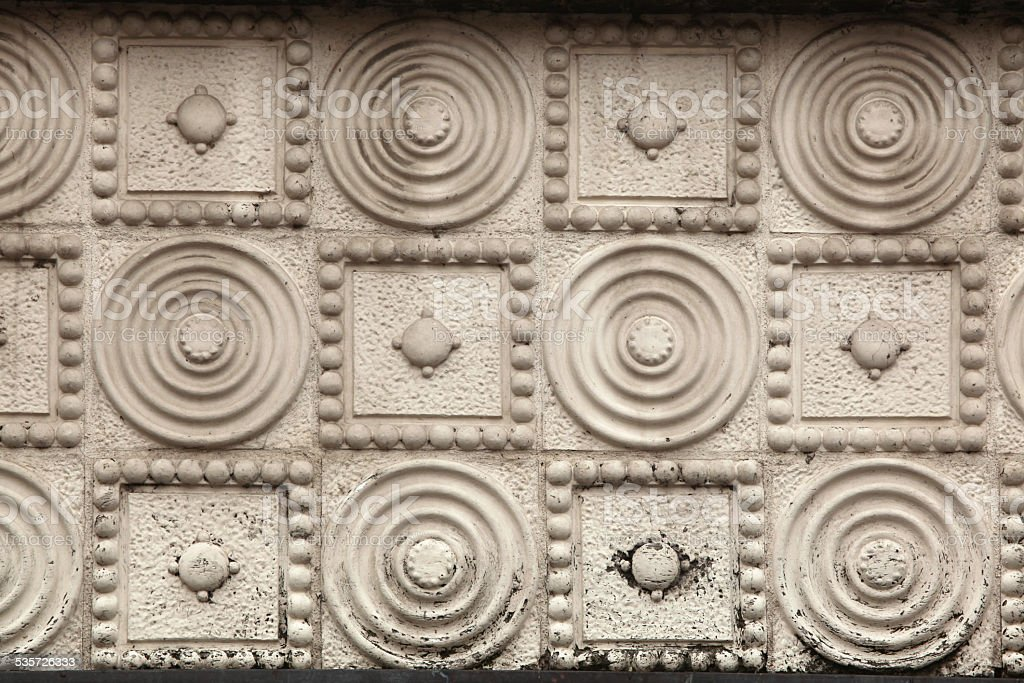 Art Nouveau pattern in Hradec Kralove, Czech Republic. stock photo