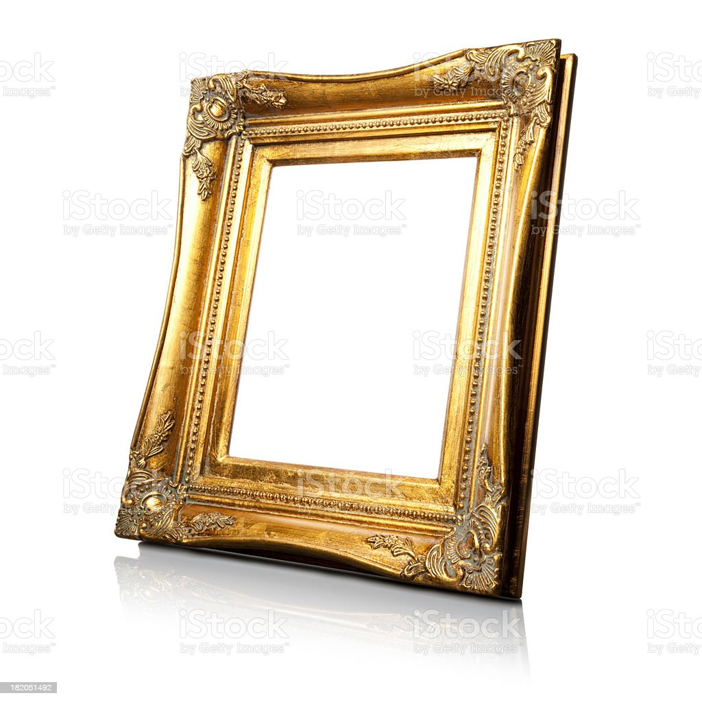 Art Nouveau Picture Frame - Vintage Retro Old royalty-free stock photo