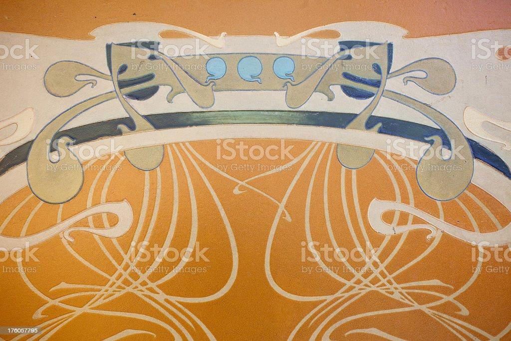 Art Nouveau royalty-free stock photo