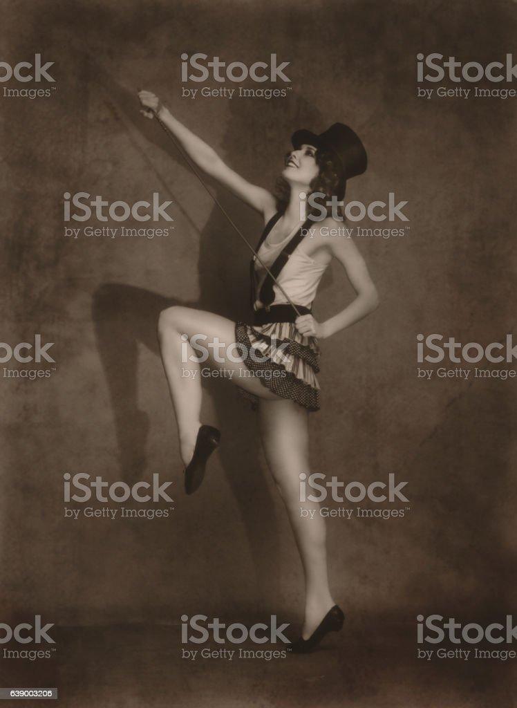 Art nouveau portait stock photo