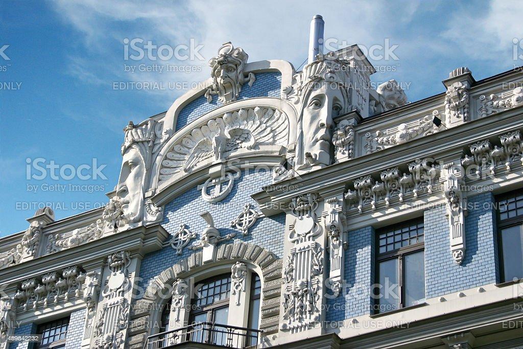 Art Nouveau, Riga stock photo