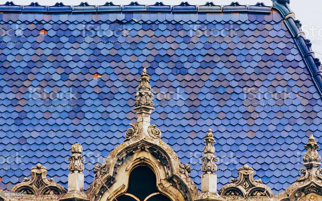 Art nouveau roof stock photo