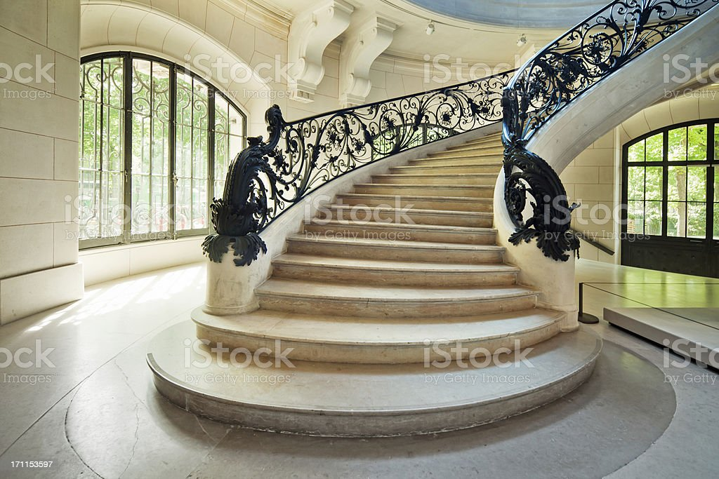 Art Nouveau  Staircase stock photo