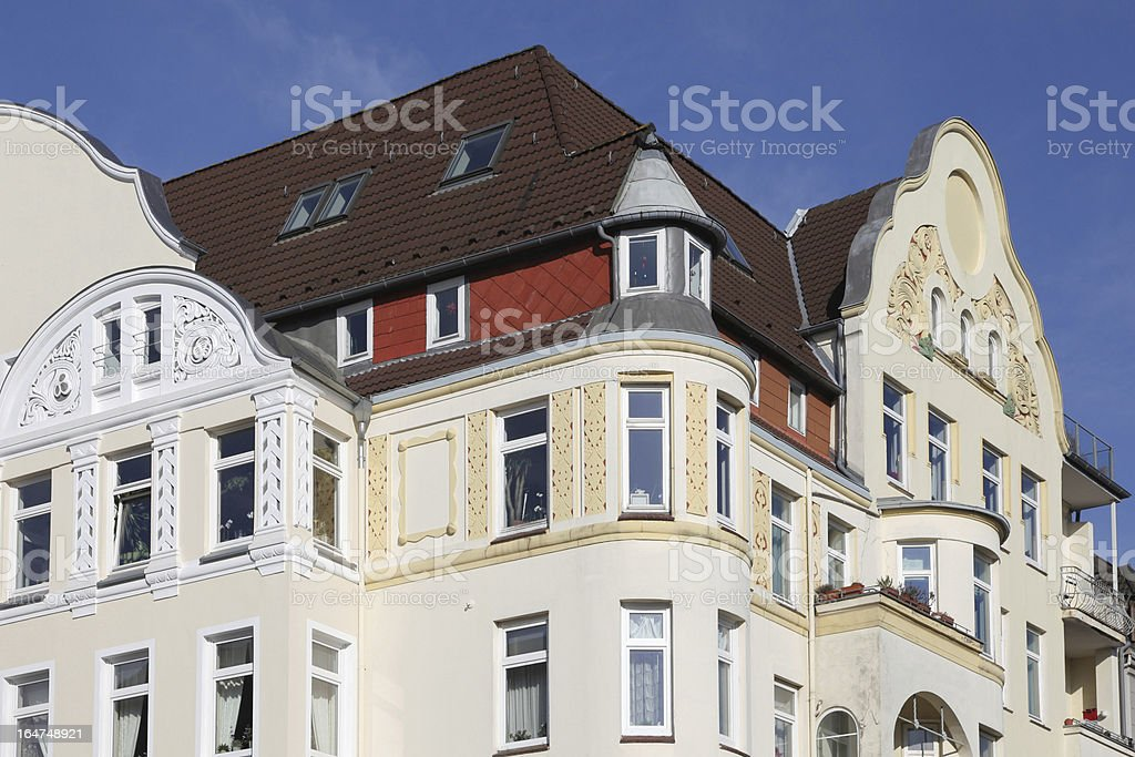 art nouveau townhouse stock photo