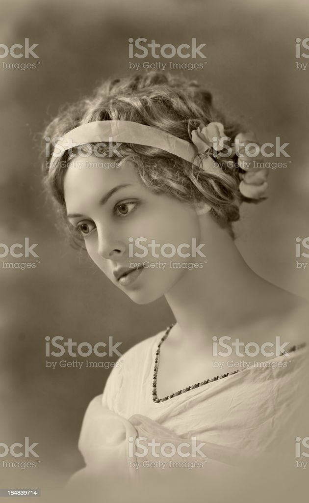Art Nouveau.Old Postcard. royalty-free stock photo