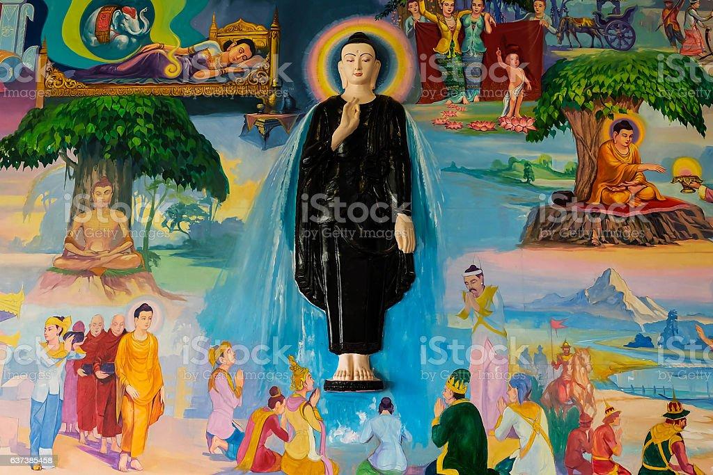 3D art of buddha stock photo