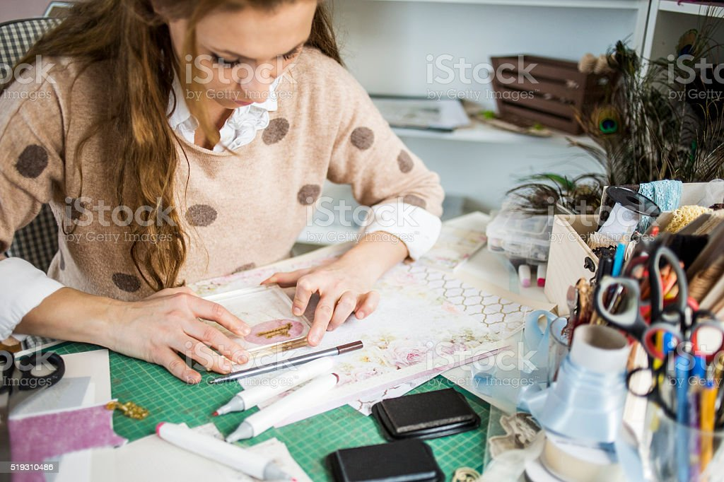 Art of card making stock photo