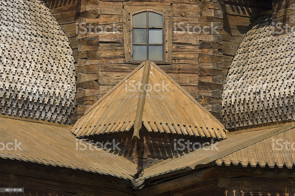 Art of carpentry - wooden masterpece royalty-free stock photo