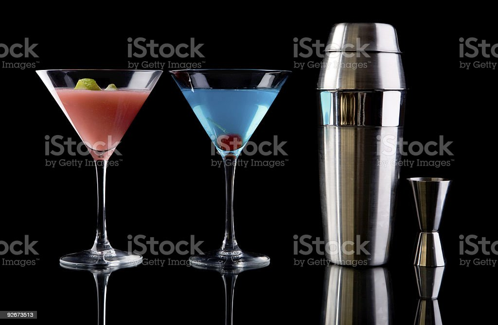 Art of cocktails stock photo