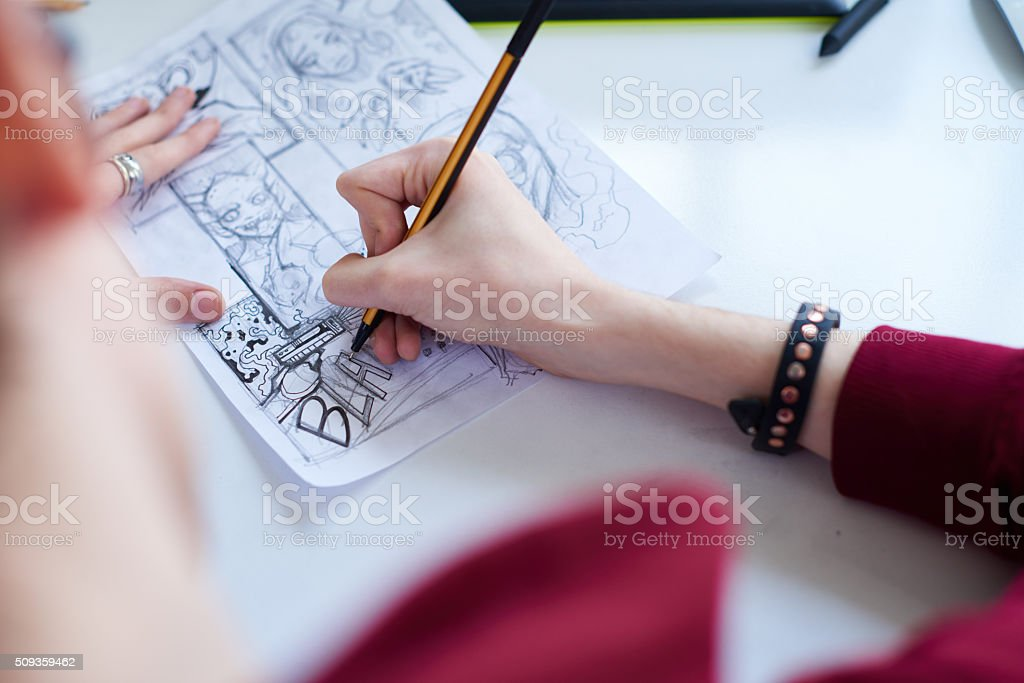 Art of comics stock photo