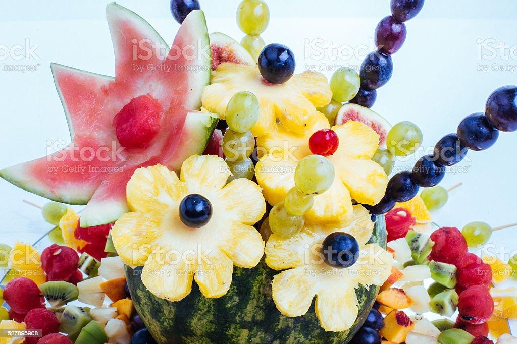 Art of fruit decoration stock photo