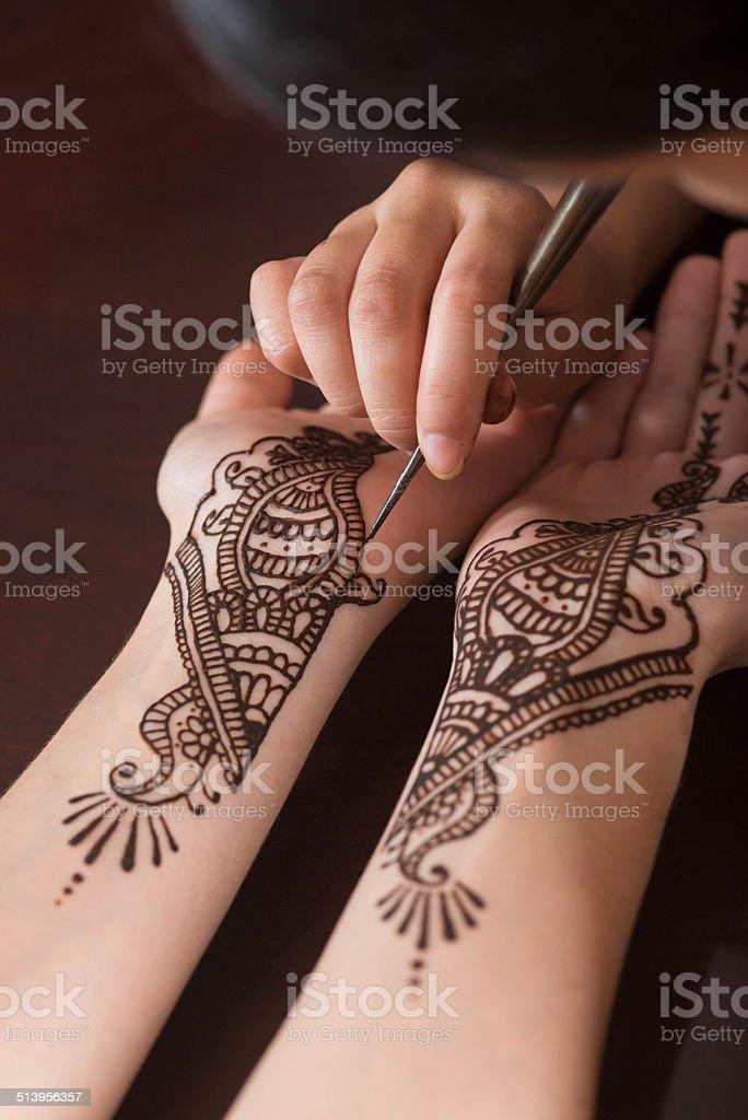 Art of Henna stock photo