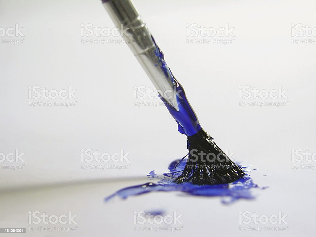 Art of Painting- Blue royalty-free stock photo