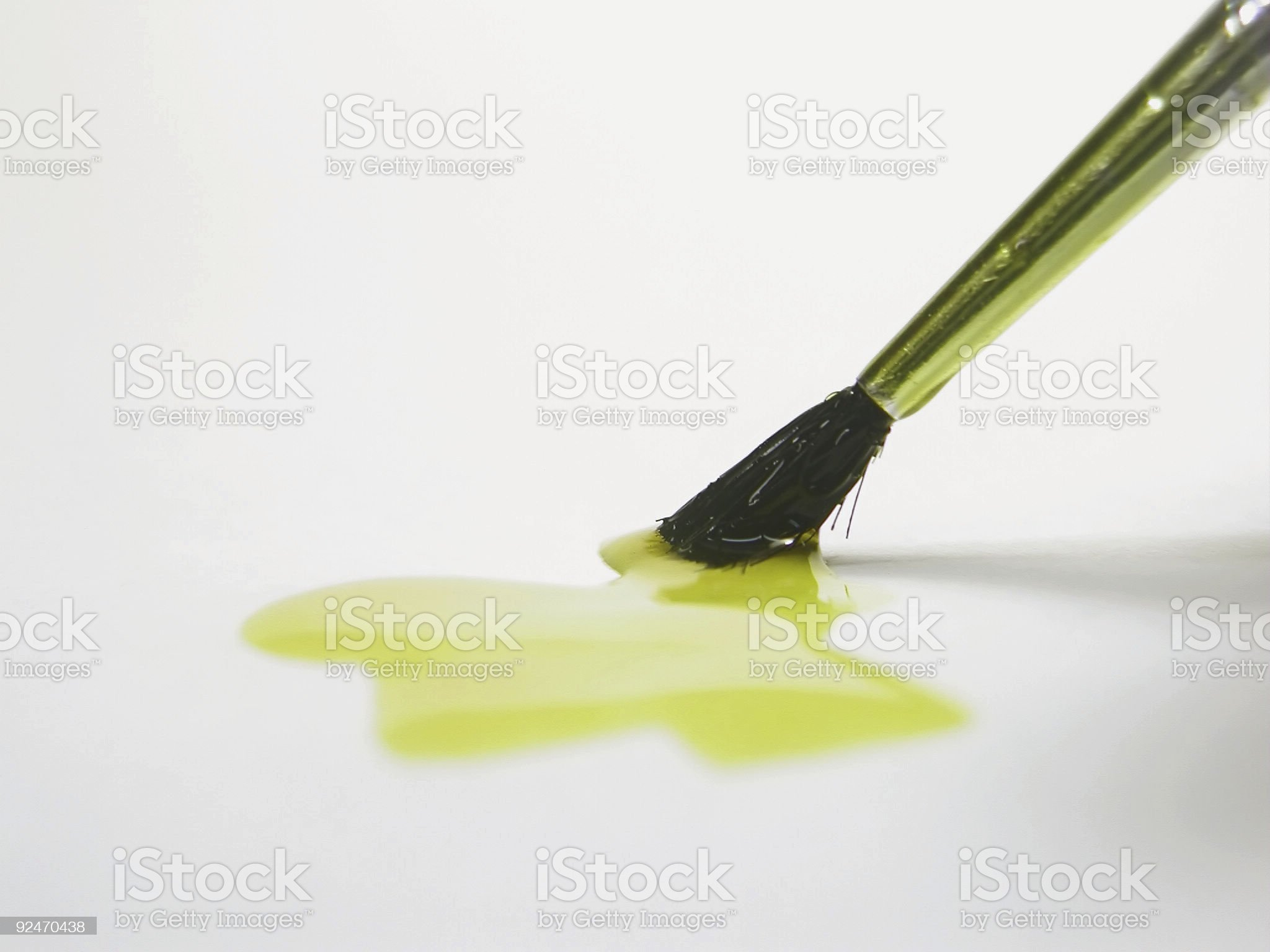 Art of Painting- Yellow royalty-free stock photo