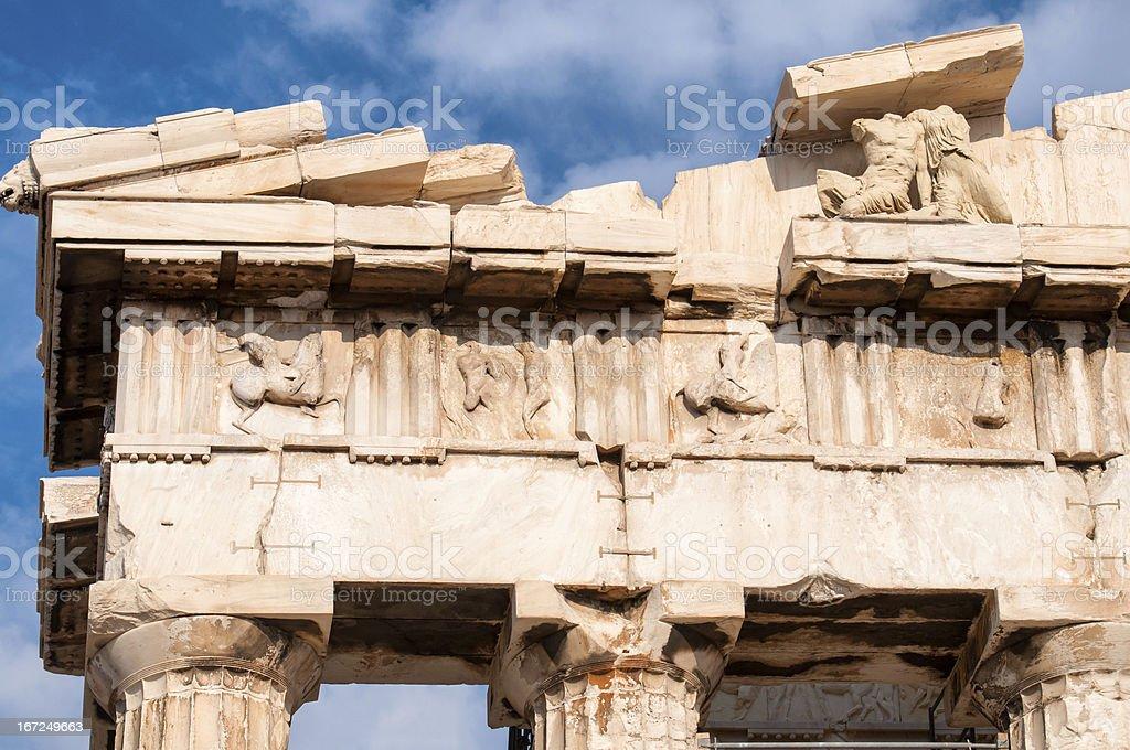 Art of Parthenon royalty-free stock photo