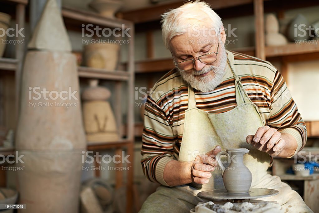 Art of pottery stock photo