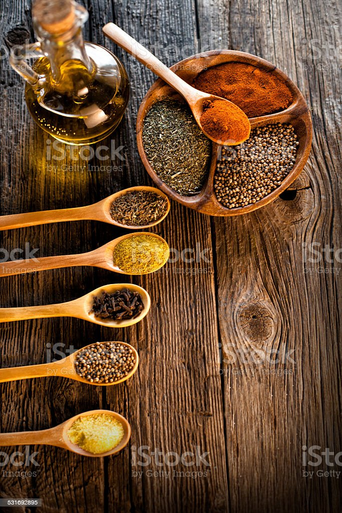 Art of spices stock photo