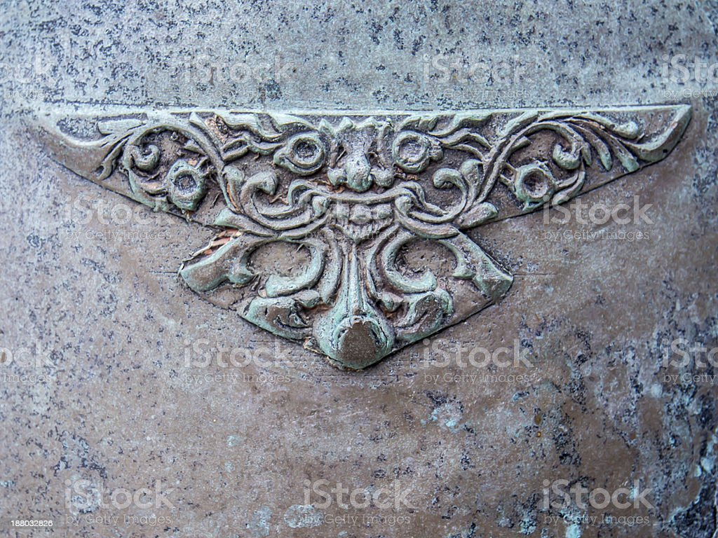 Art of Thai bell detail pattern royalty-free stock photo