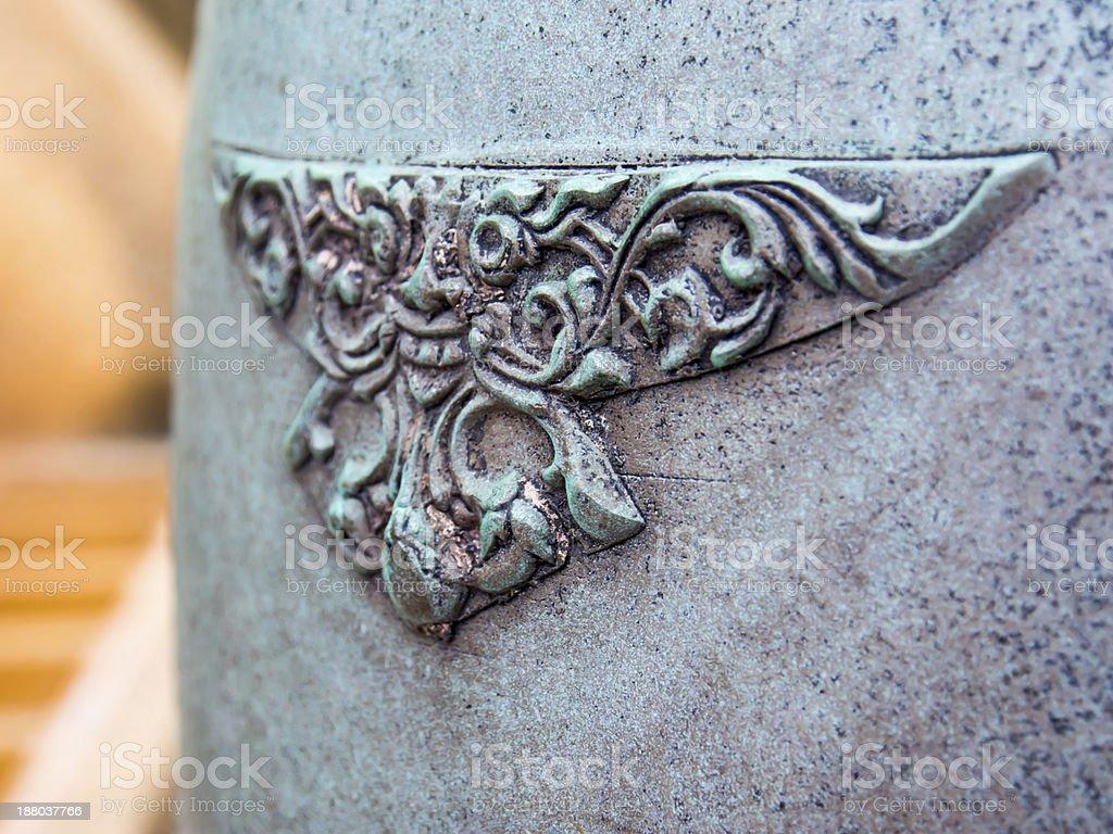 Art of Thai bell detail pattern royalty-free stock photo
