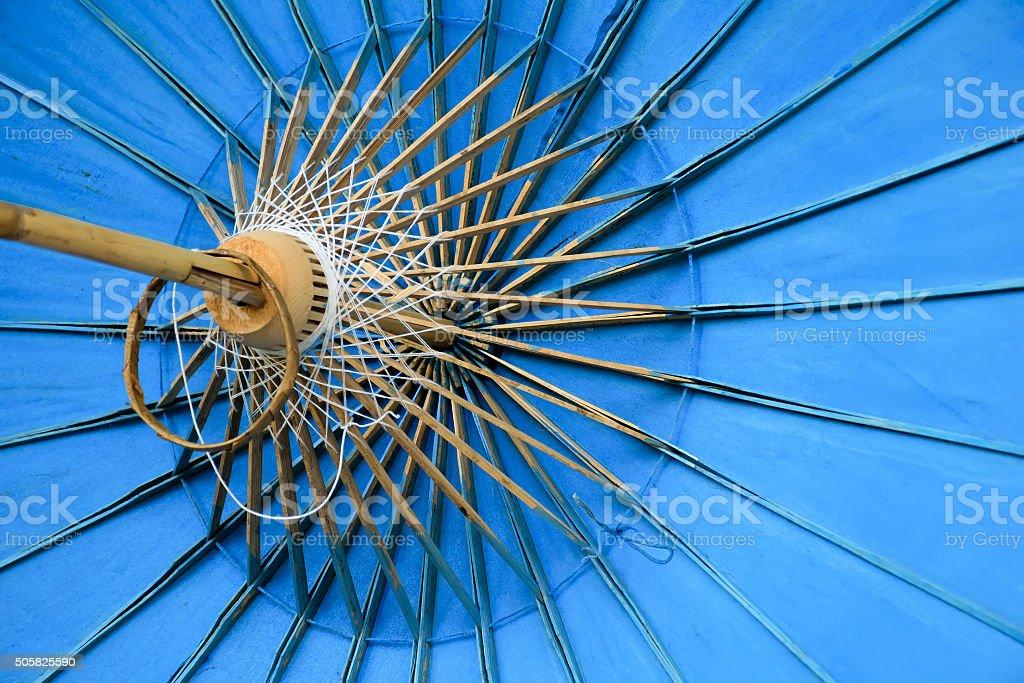 Art of umbrella frame and light stock photo