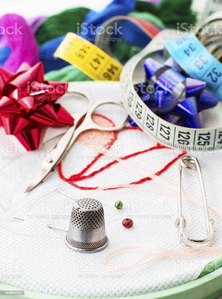 art of weaving and embroidering royalty-free stock photo