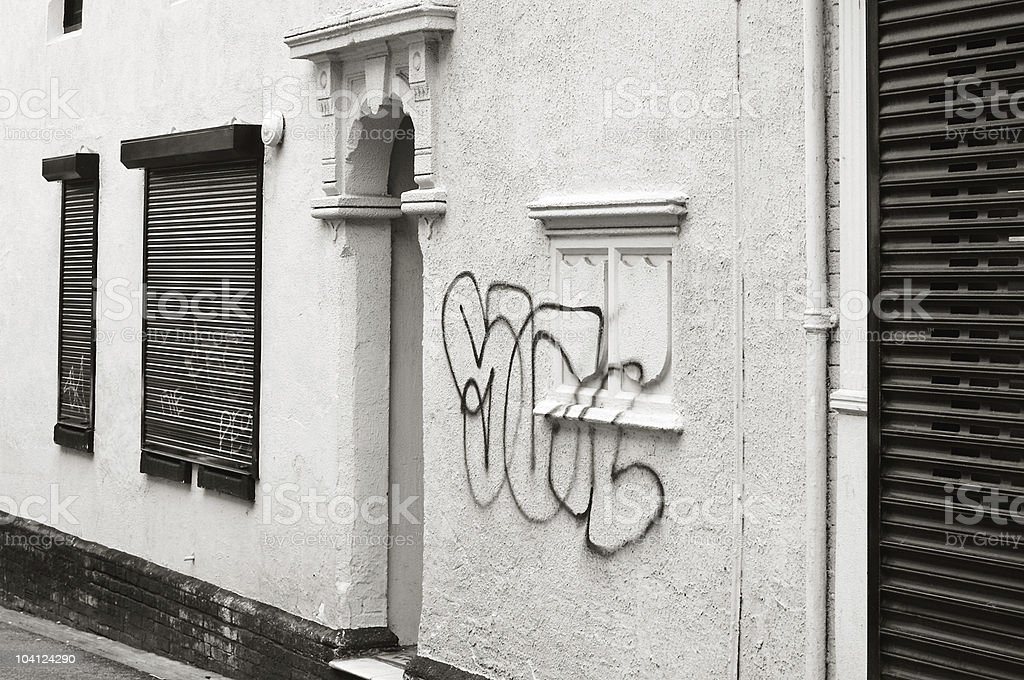 Art or vandalism? - Graffiti in urban street royalty-free stock photo
