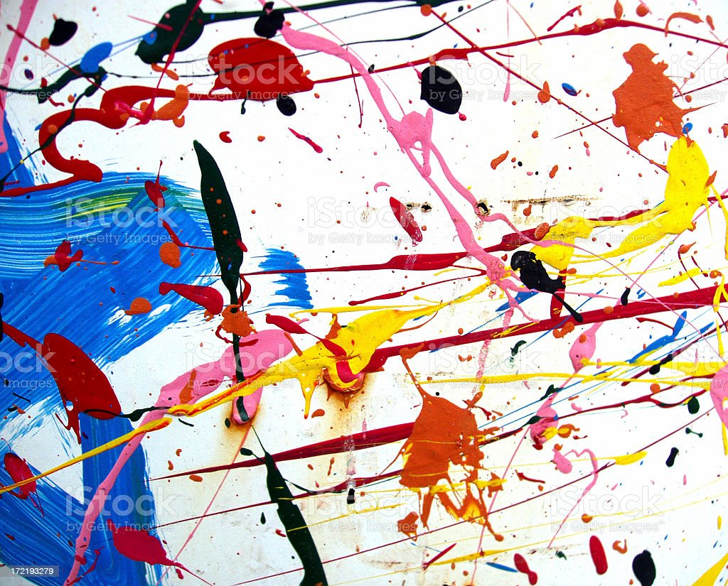 Art - Paint Splatters II royalty-free stock photo