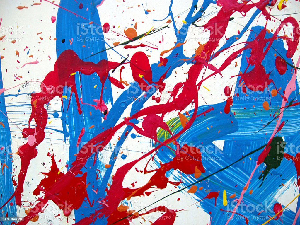 Art - Paint Splatters stock photo