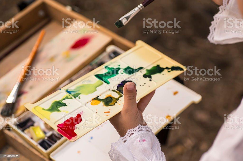 art pait palette stock photo
