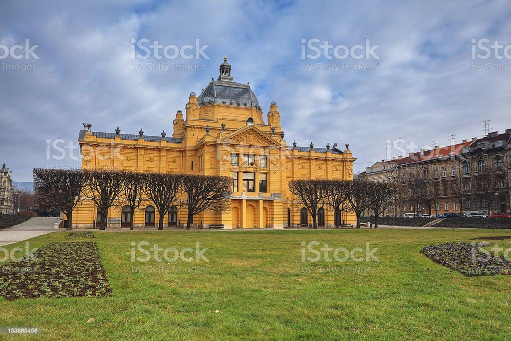 art pavilion in Zagreb stock photo