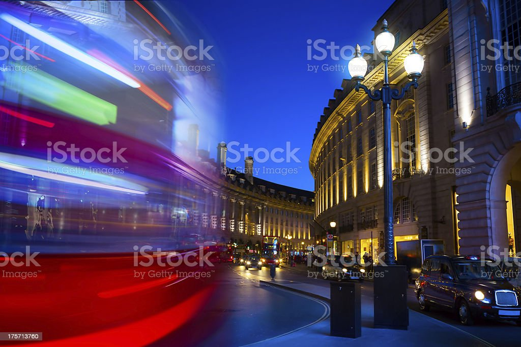 art Piccadilly Circus in London by night stock photo
