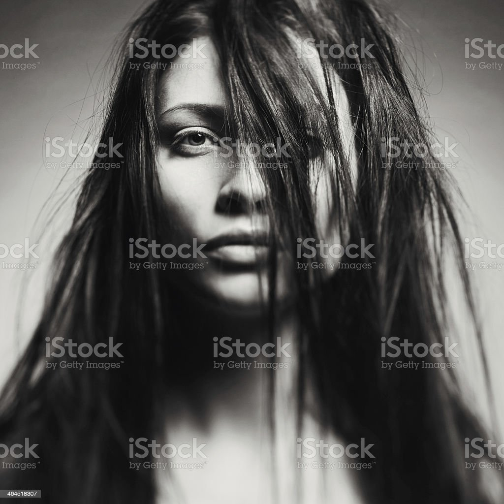 Art portrait of a beautiful young lady royalty-free stock photo
