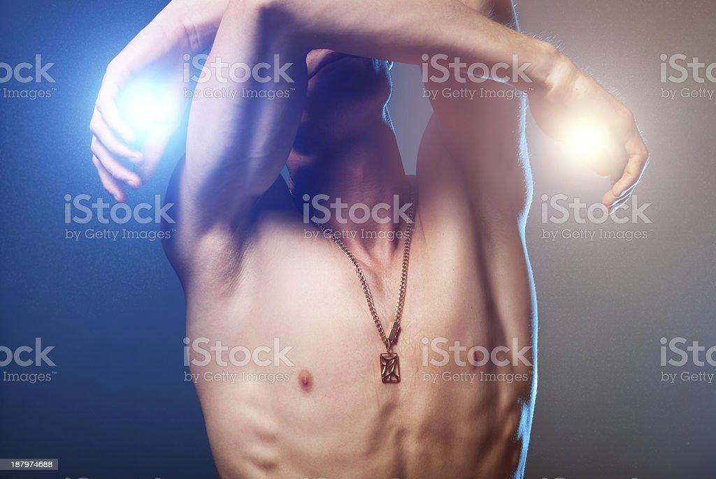 Art portrait of a Man stock photo