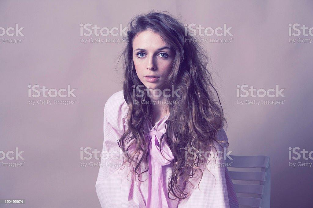 Arte Retrato de mujer bella foto de stock libre de derechos