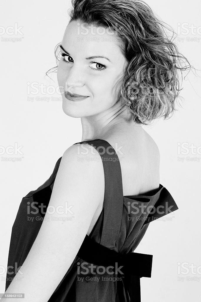 Arte Retrato de mujer joven hermosa foto de stock libre de derechos