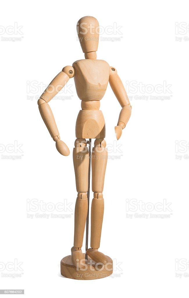 Art posing figurine. stock photo