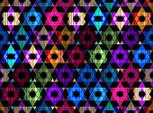 Art rhombus pattern