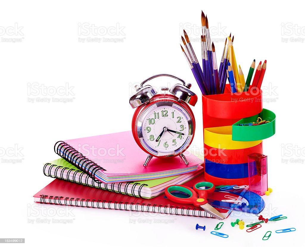 Art school  supplies. royalty-free stock photo