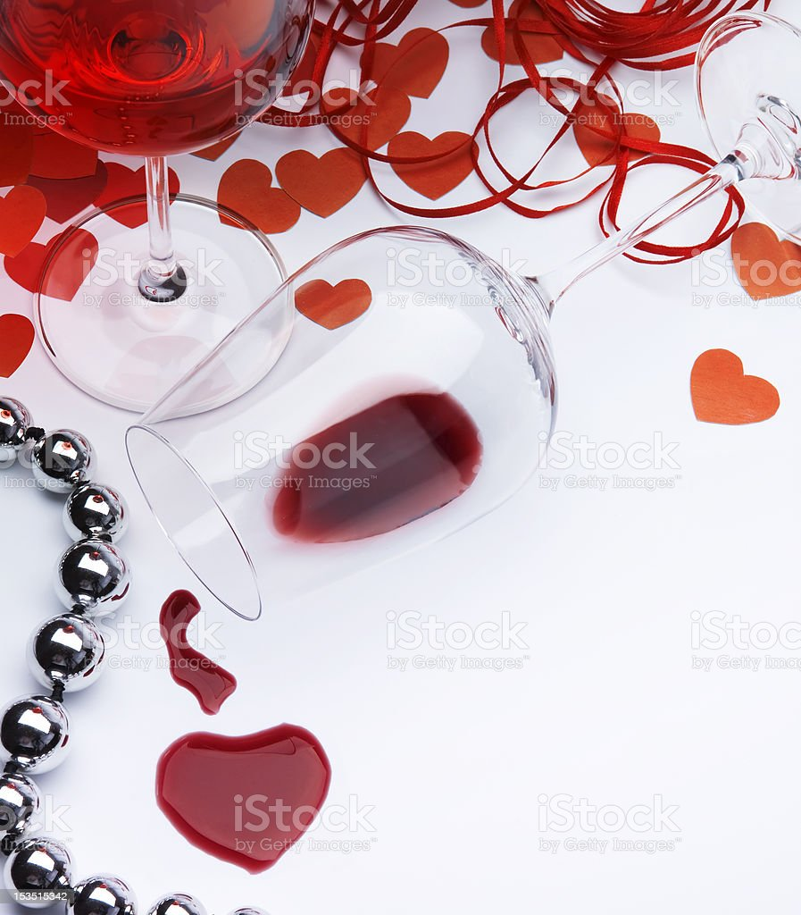 Art sexual greeting card Happy Valentine royalty-free stock photo