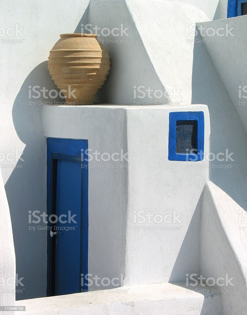 Art shop in Greece, vertical royalty-free stock photo