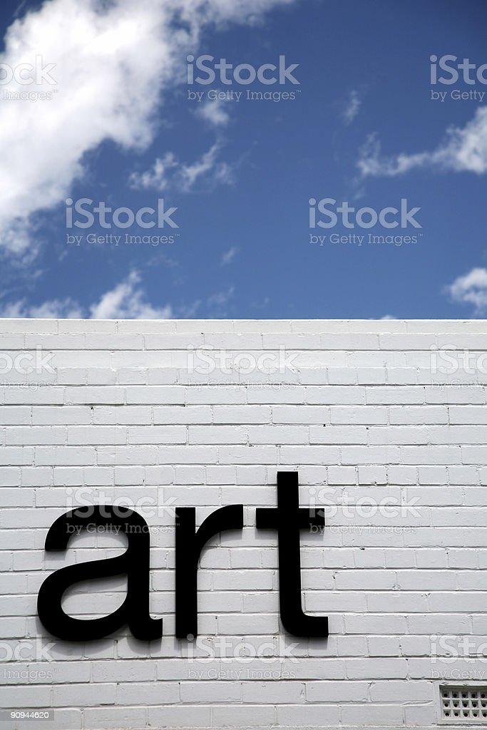 Art sign stock photo