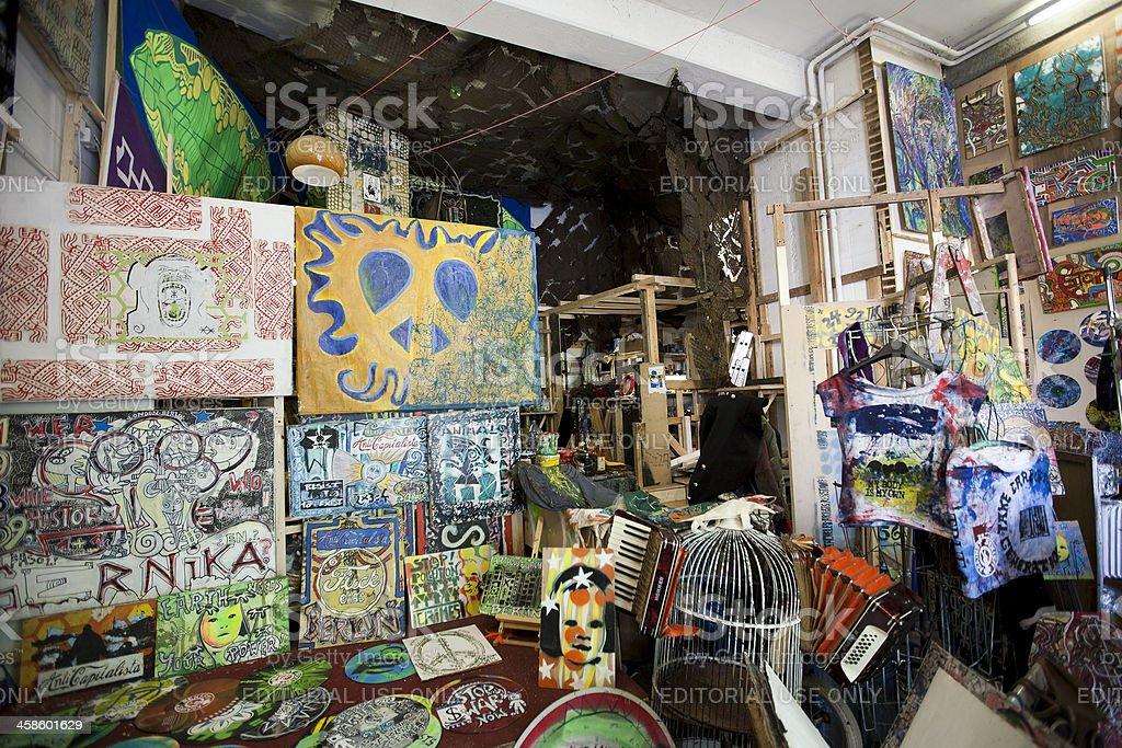 Art stores in Berlin's Kunsthaus Tacheles stock photo