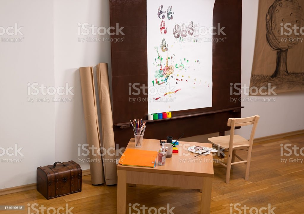 Art studio royalty-free stock photo