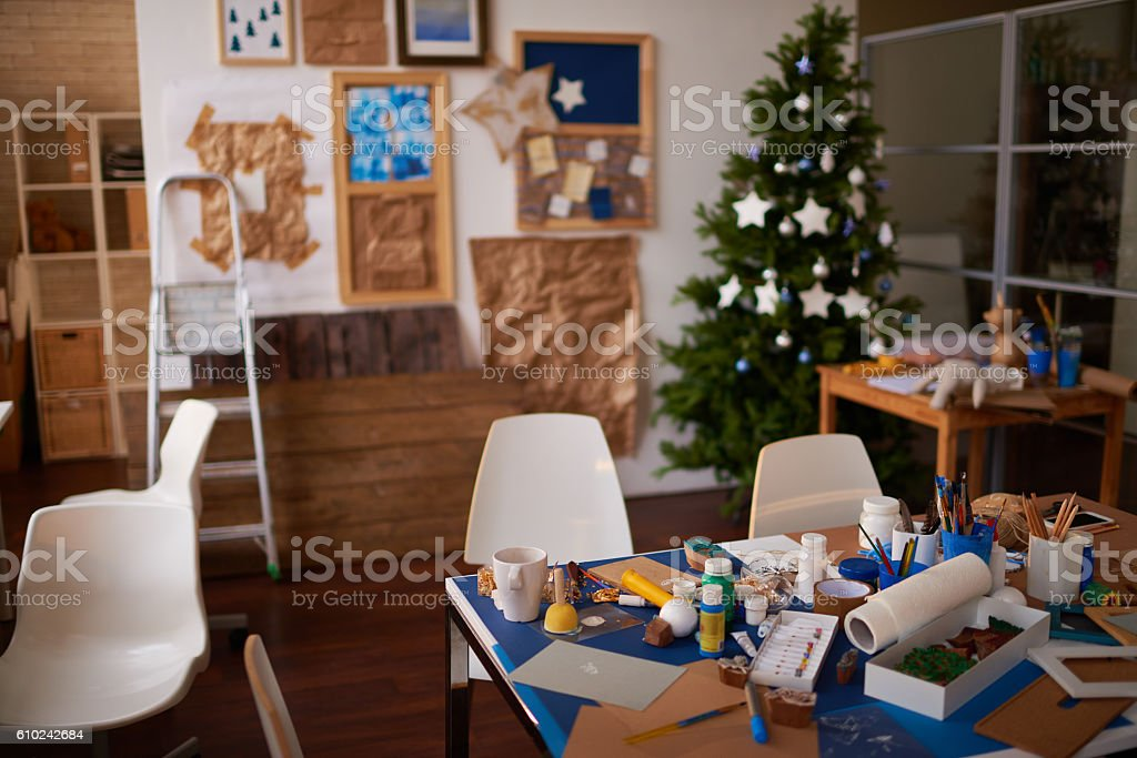Art studio stock photo
