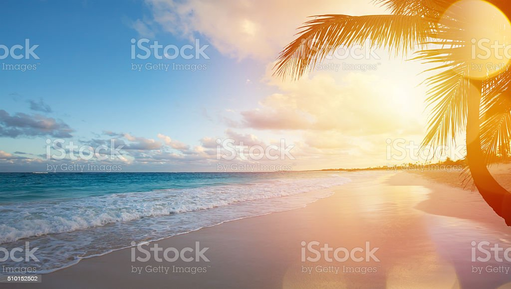 Art Summer vacation ocean beach stock photo