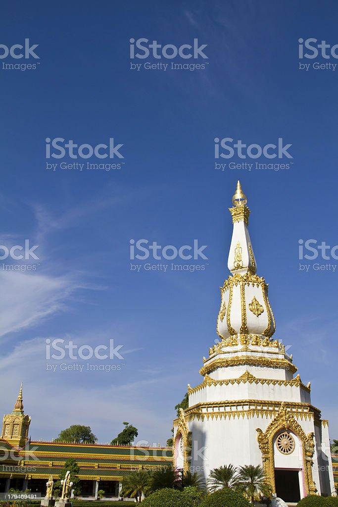 Art Thai Style Temple, Maha Chedi Chaimongkol, Thailand stock photo